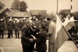 Uroczystość oddana remizy strażackiej w 1978 r.