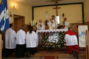 Msza św. odpustowa w uroczystość 25 lecia poświęcenia kaplicy. Rok 2009.