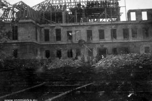 Pałac w Izbicku w trakcje odbudowy