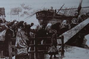 Emigranci w porcie Bremerhaven