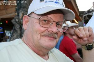 Burmistrz Horst Pallaske (1944 - 2013). Bandera 2008 rok.