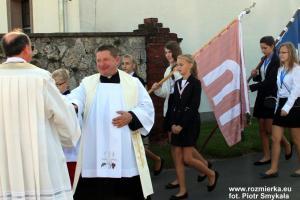 Powitanie w Rozmierzy procesji odpustowej z Suchej