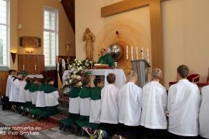 Uroczysta msza św. w Rozmierce