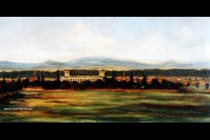 Widok na pałac izbicki - obraz olejny