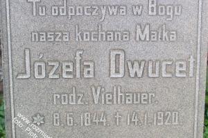 Kamień nagrobny Józefy Dwucet - matki Juliusza i Josepha