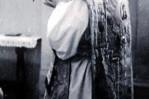 ks. Franz Kurtz (1903 - 1966) w czasie nabożeństwa w Rozmierzy