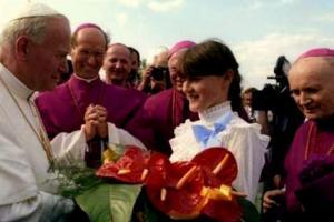 Papież Jan Paweł II na Górze św. Anny
