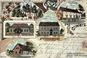 Pocztówka Rozmierzy z końca XIX w., wysłana w 1904 r.