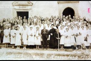Pielgrzymi z parafii Rozmierz na Górze św. Anny - rok 1939
