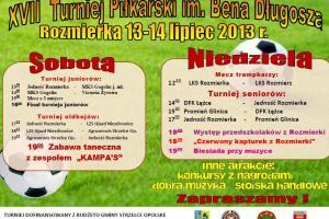 XVII Turniej Piłkarski im. Bena Długosza w Rozmierce