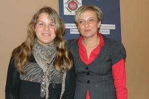 Ewa Glik z swoją nauczycielką Agatą Kaczmar