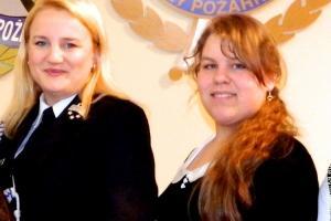 Ewa Glik z członkiem Zarządu Głównego OSP RP Teresą Tiszbierek